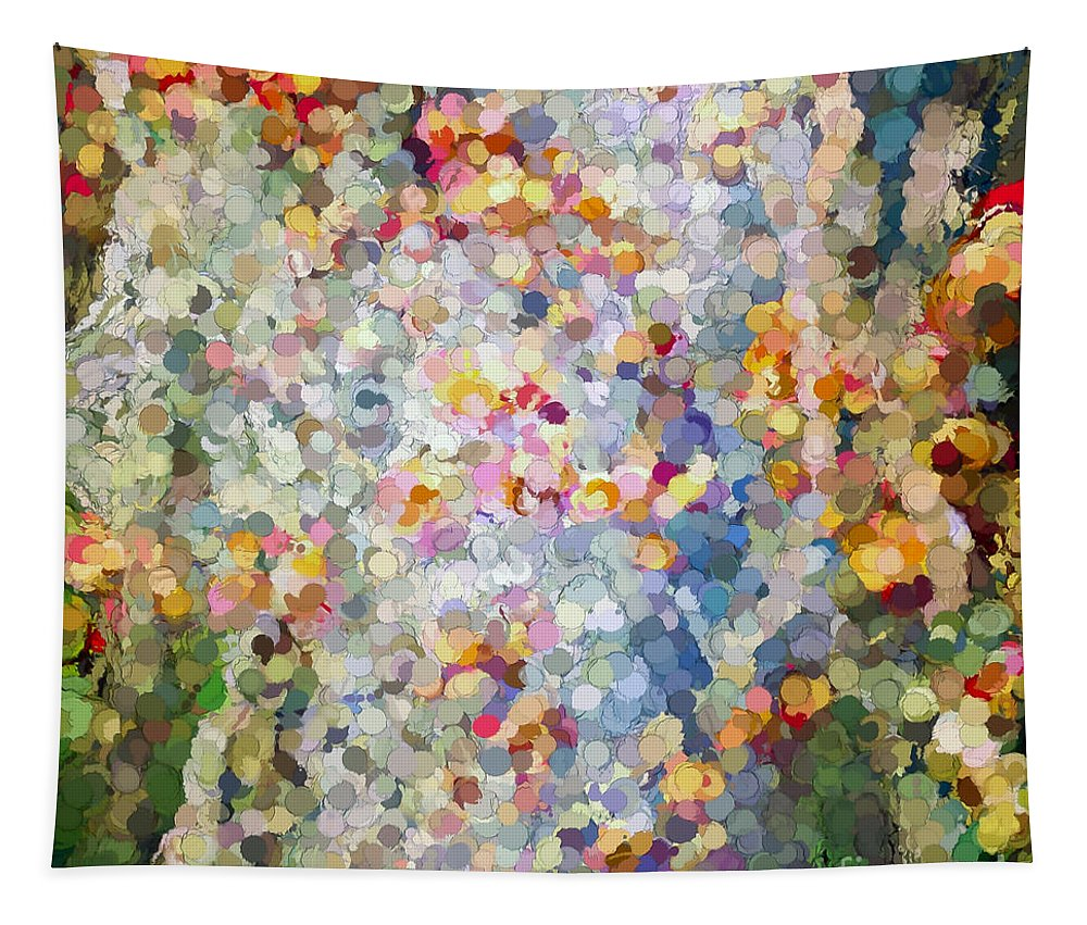 Nature Tapestry featuring the photograph Berries Around The Tree - Abstract Art by Kerri Farley