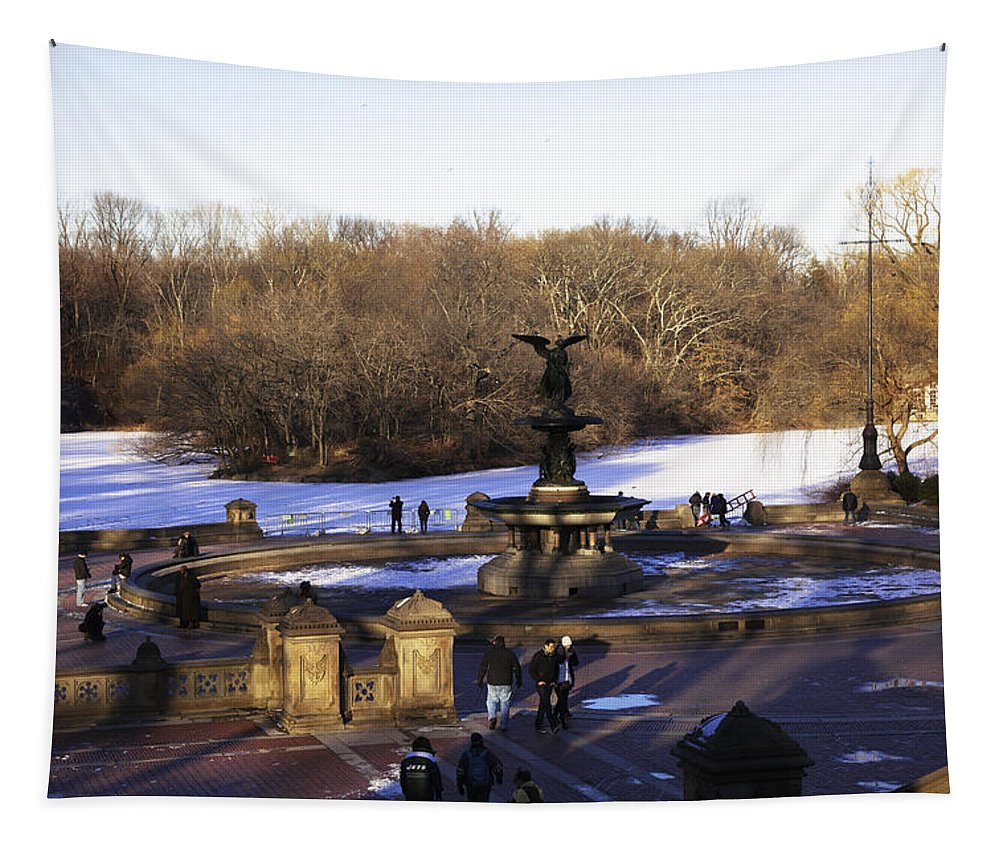 Bethesda Fountain Tapestry featuring the photograph Bethesda Fountain 2013 - Central Park - Nyc by Madeline Ellis