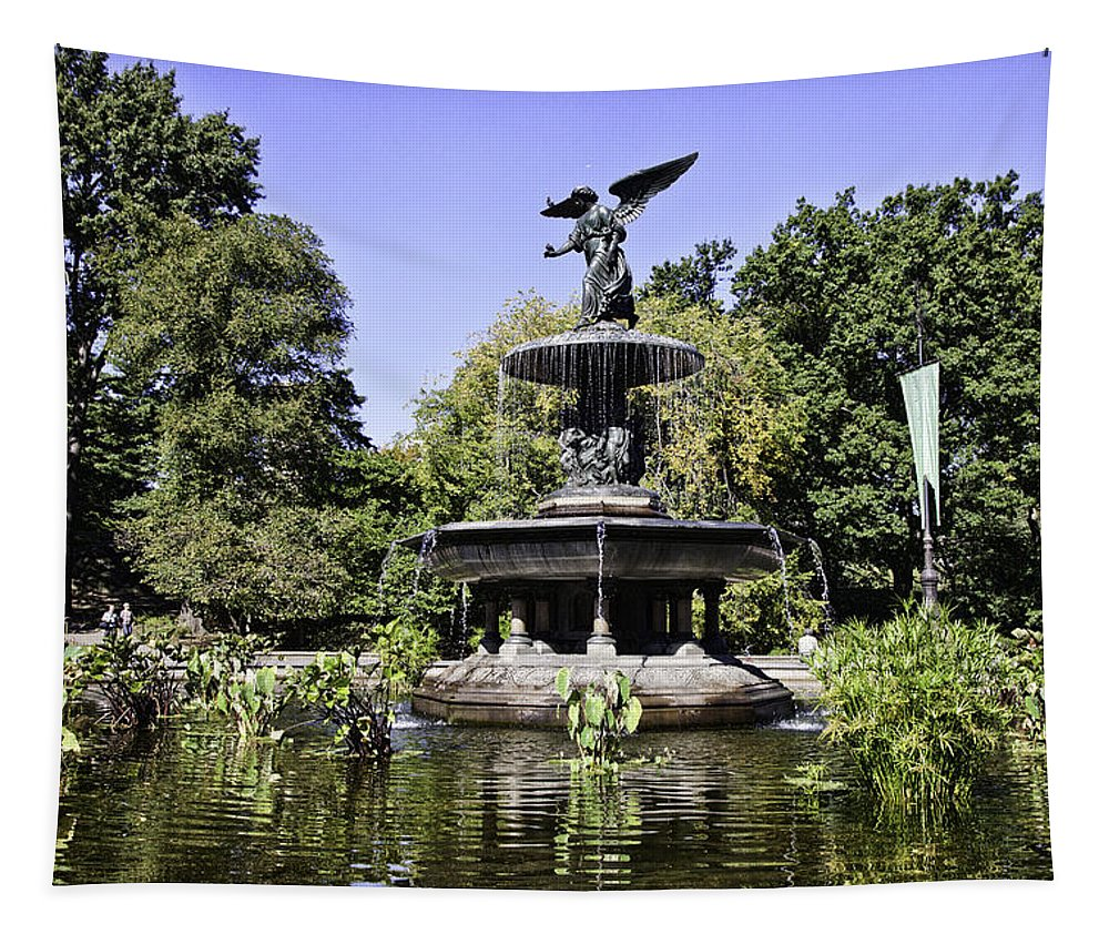 Bethesda Fountain Tapestry featuring the photograph Bethesda Fountain Iv - Central Park by Madeline Ellis