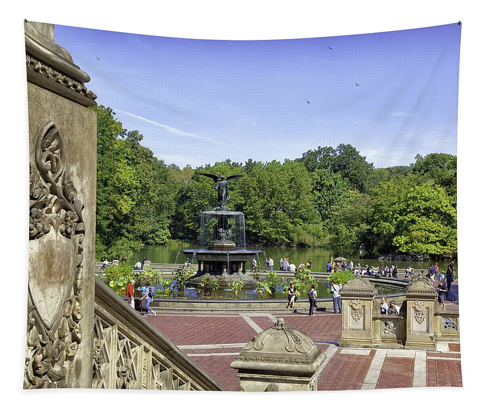 Bethesda Fountain Tapestry featuring the photograph Bethesda Fountain V - Central Park by Madeline Ellis
