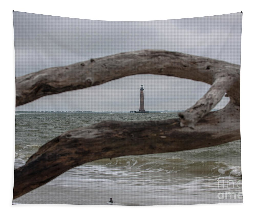 Folly Beach Tapestry featuring the photograph Between The Limbs by Dale Powell