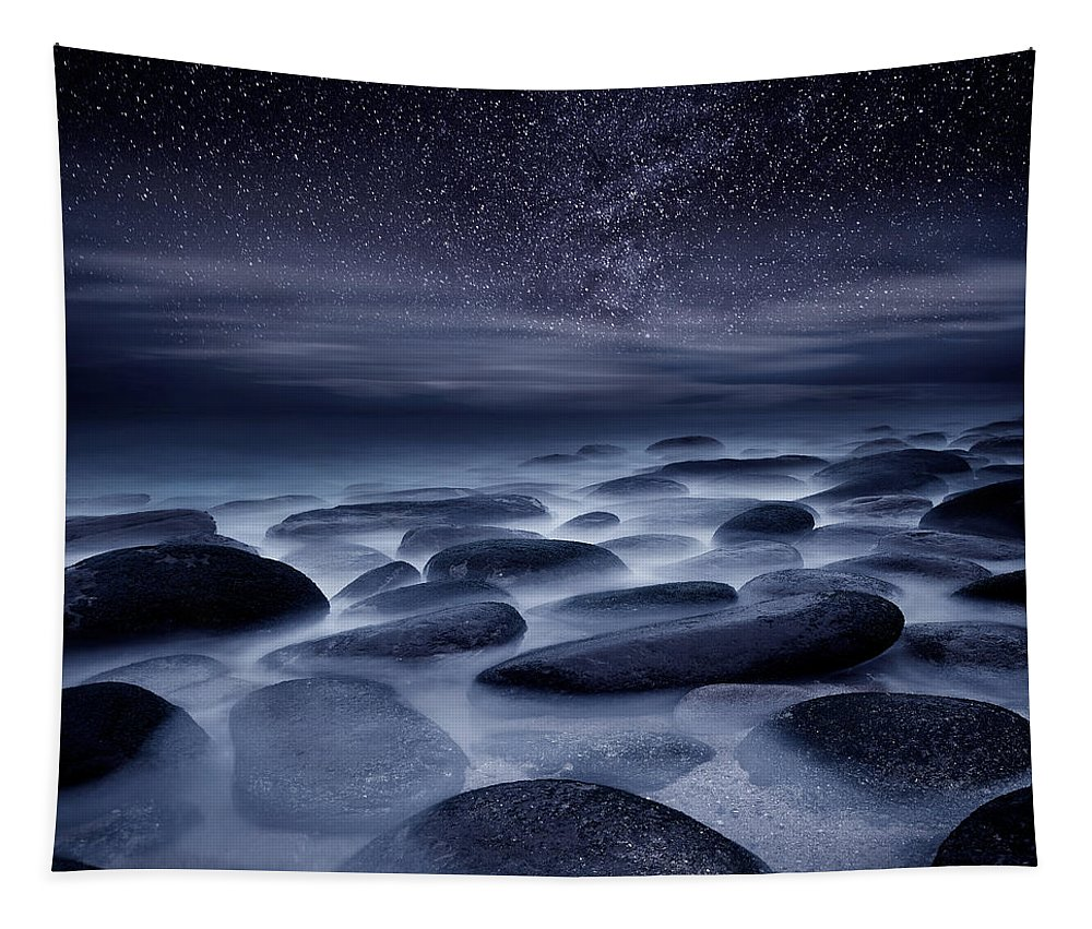 Night Tapestry featuring the photograph Beyond our Imagination by Jorge Maia