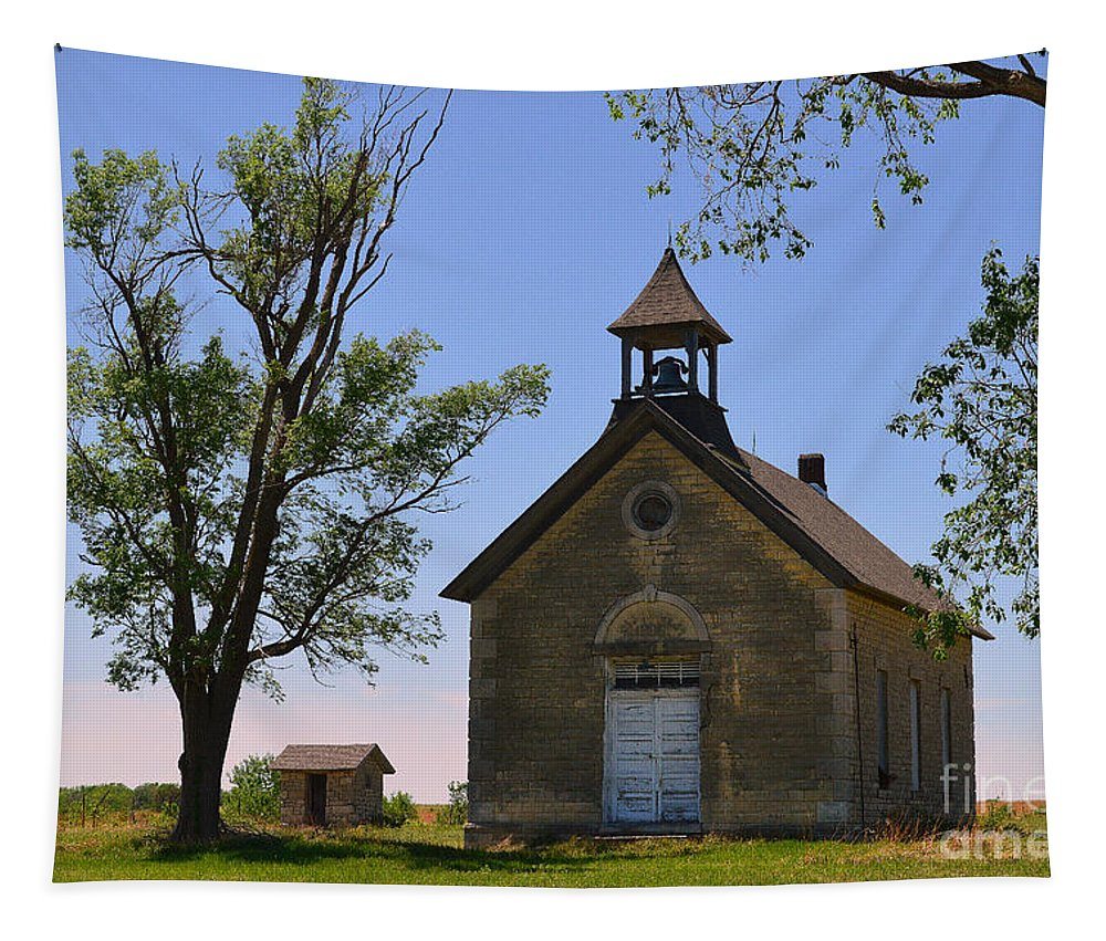Bichet Tapestry featuring the photograph Bichet School In Marion County In Kansas by Catherine Sherman
