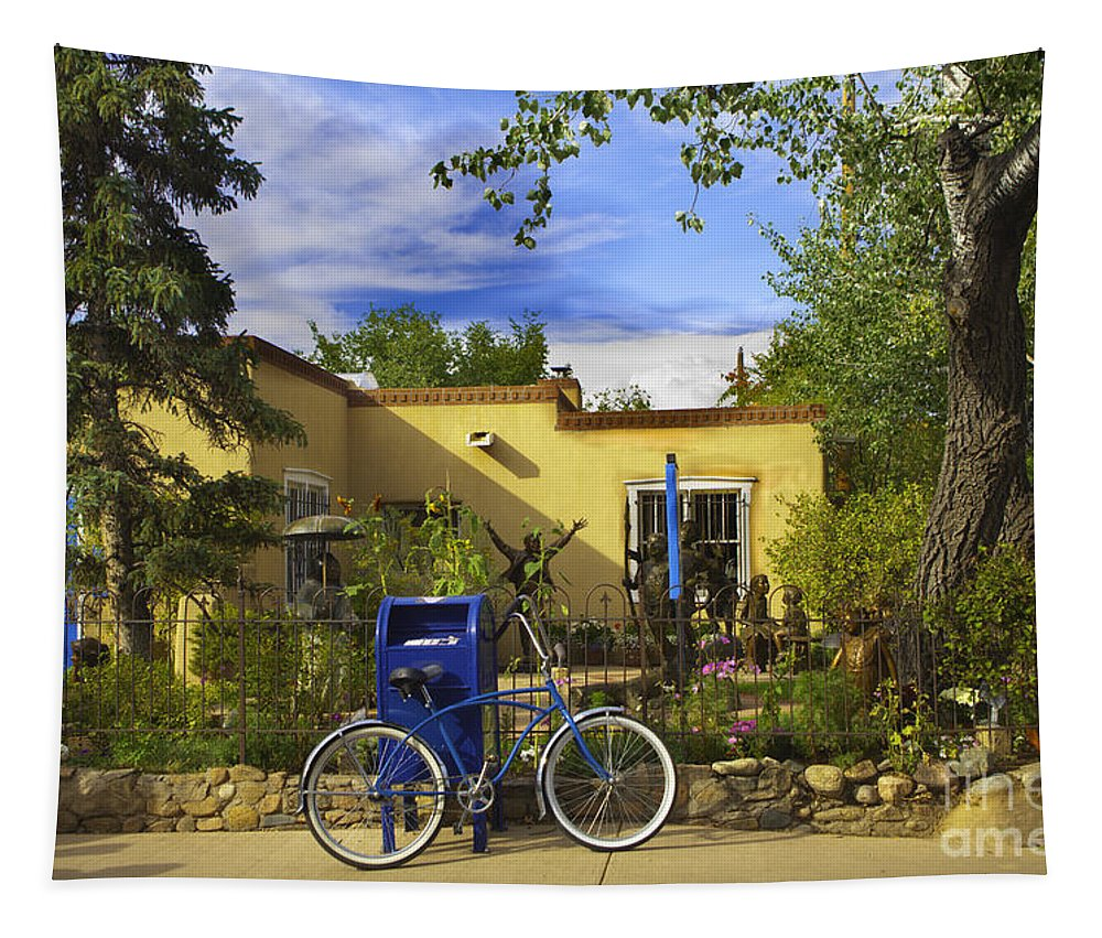 Bicycle Tapestry featuring the photograph Bicycle In Santa Fe by Madeline Ellis