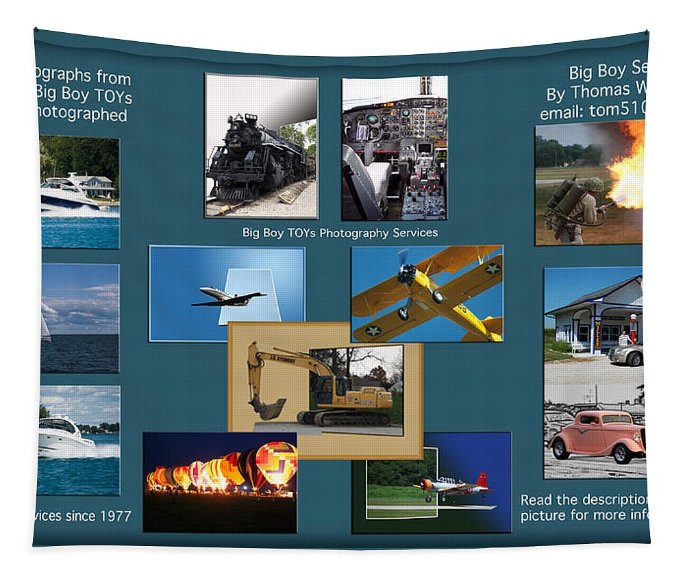 Big Boy Toys Tapestry featuring the photograph Big Boy Toys Photography Services by Thomas Woolworth