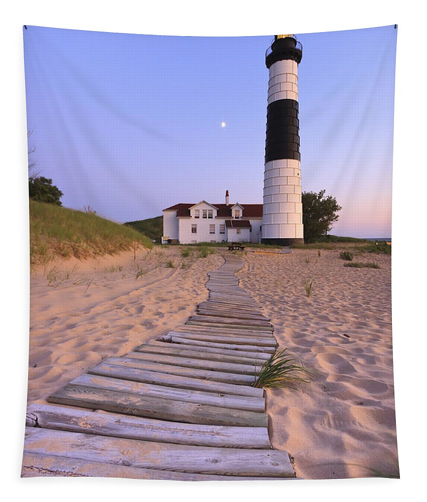 3scape Photos Tapestry featuring the photograph Big Sable Point Lighthouse by Adam Romanowicz