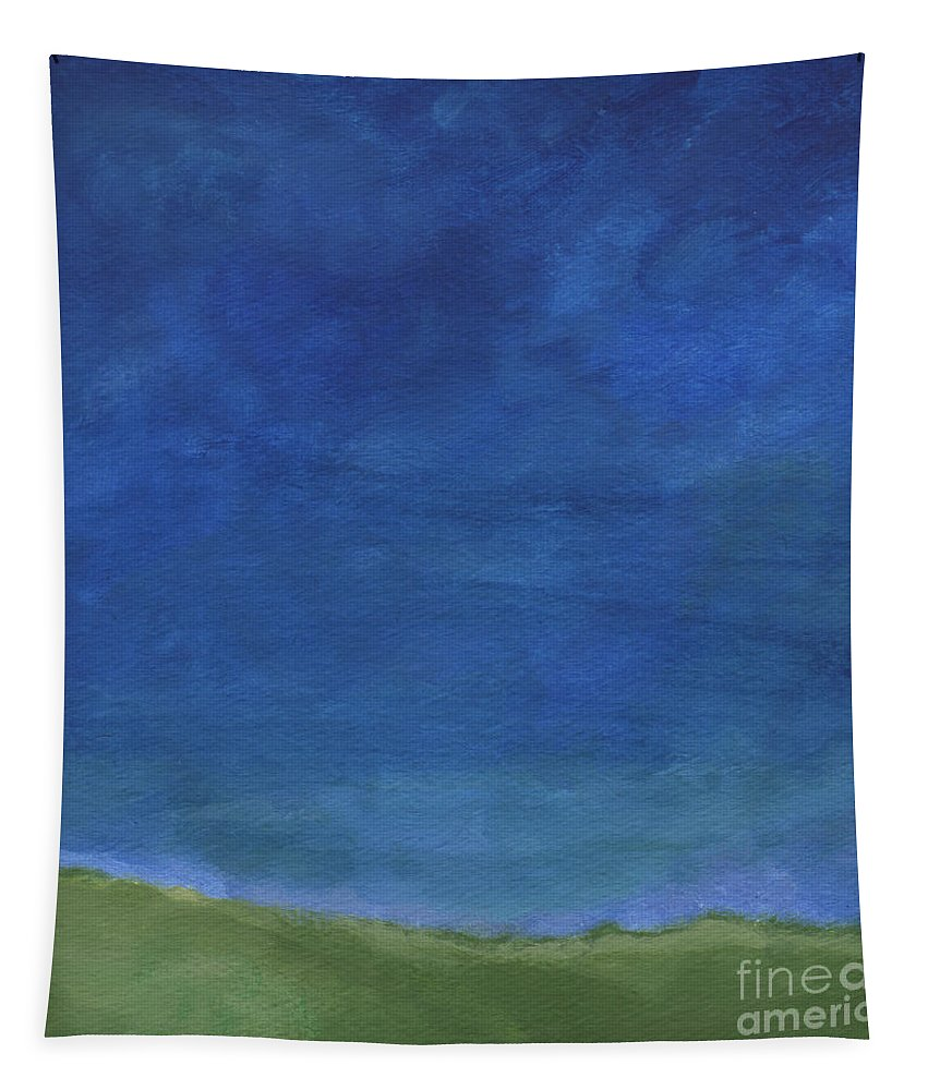 Sky Tapestry featuring the painting Big Sky by Linda Woods