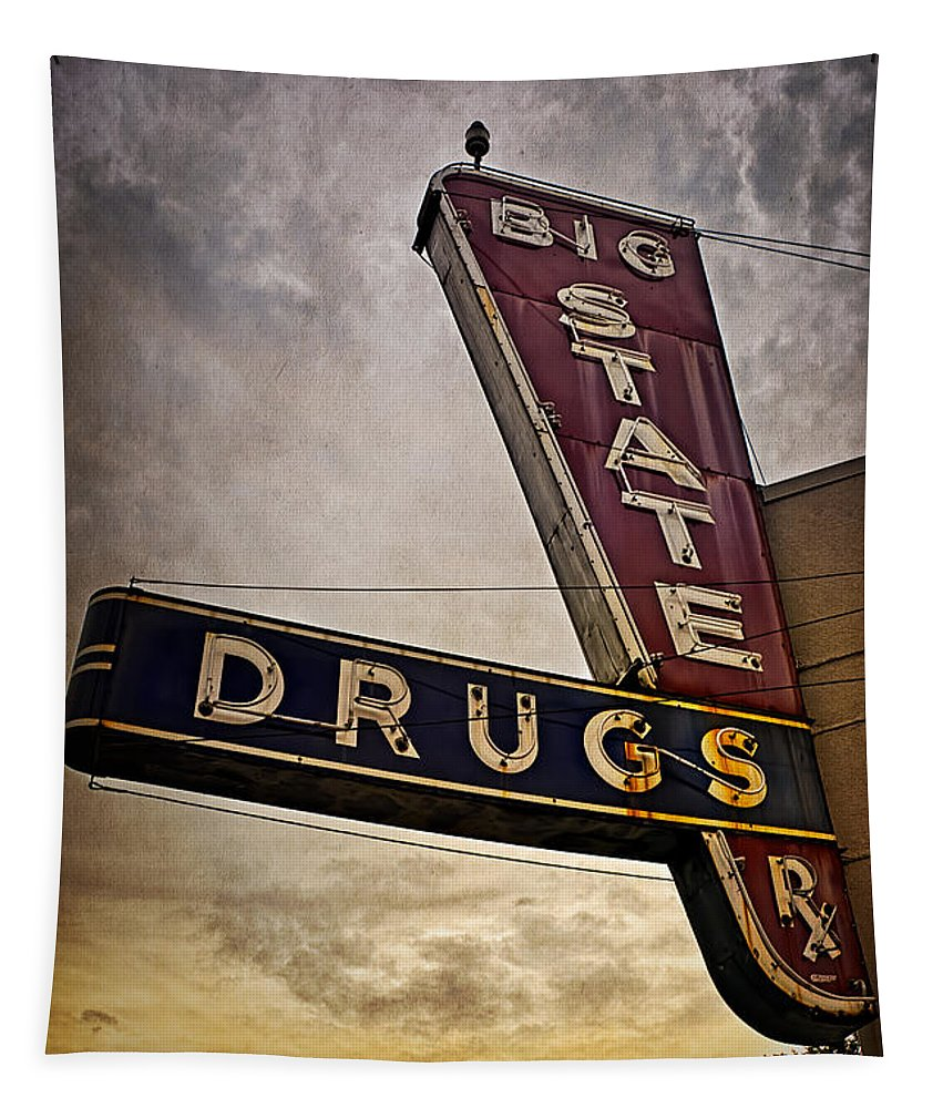 Joan Carroll Tapestry featuring the photograph Big State Drugs Irving by Joan Carroll