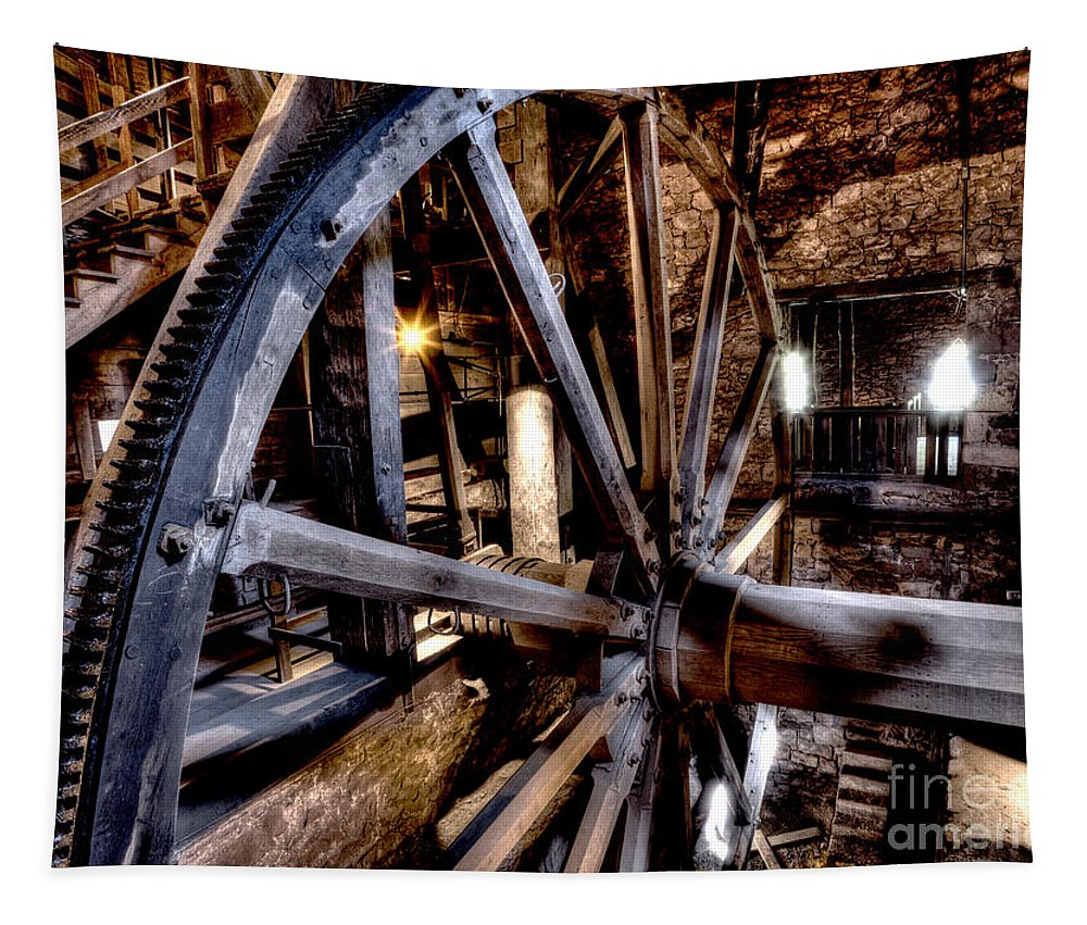 Wheel Tapestry featuring the photograph Big Wheel - 2 by Paul W Faust - Impressions of Light