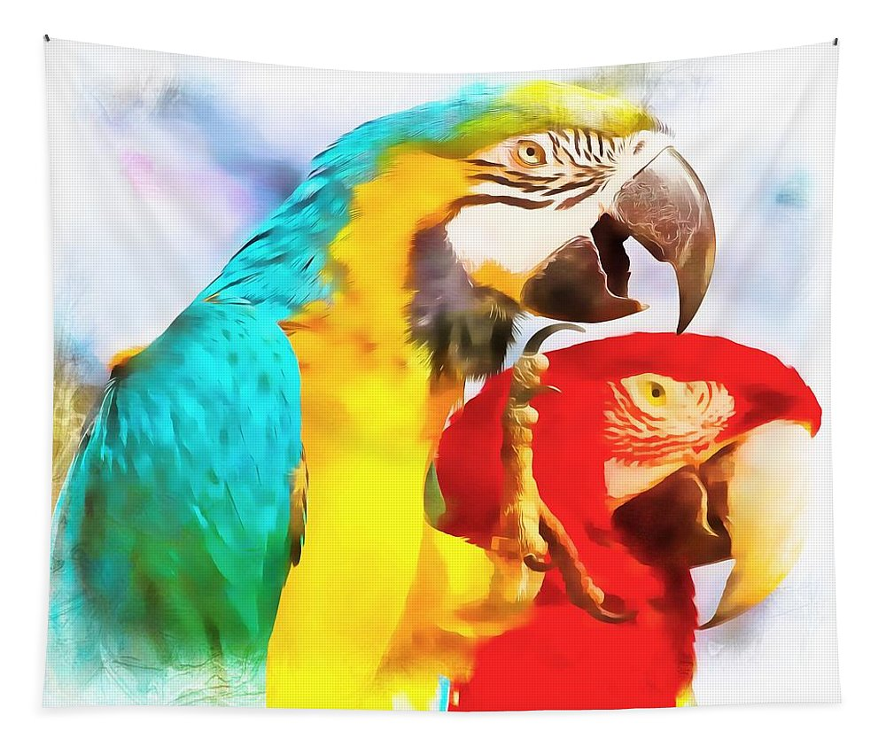 Parrots Tapestry featuring the photograph Bigfoot by Alice Gipson
