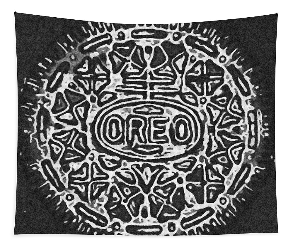 Oreo Tapestry featuring the photograph Black And White Oreo by Rob Hans