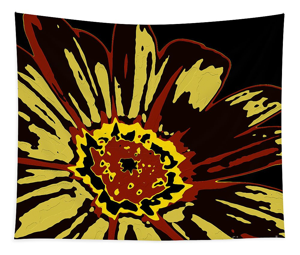 Flower Tapestry featuring the digital art Black Eye Susanna by Dragica Micki Fortuna