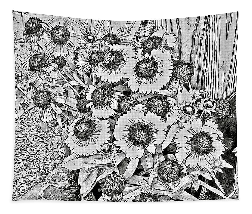 Black Eyed Susans Tapestry featuring the photograph Black Eyed Susans by Alice Gipson