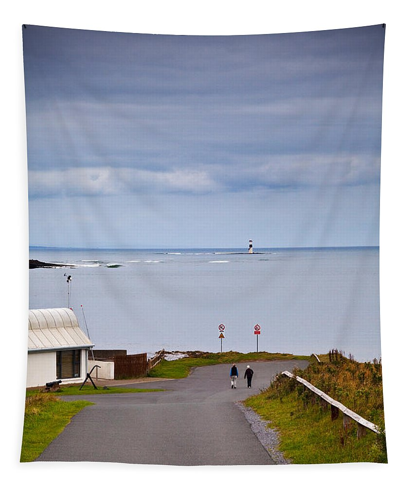 Photography Tapestry featuring the photograph Blackrock Lighthouse, Off Rosses Point by Panoramic Images