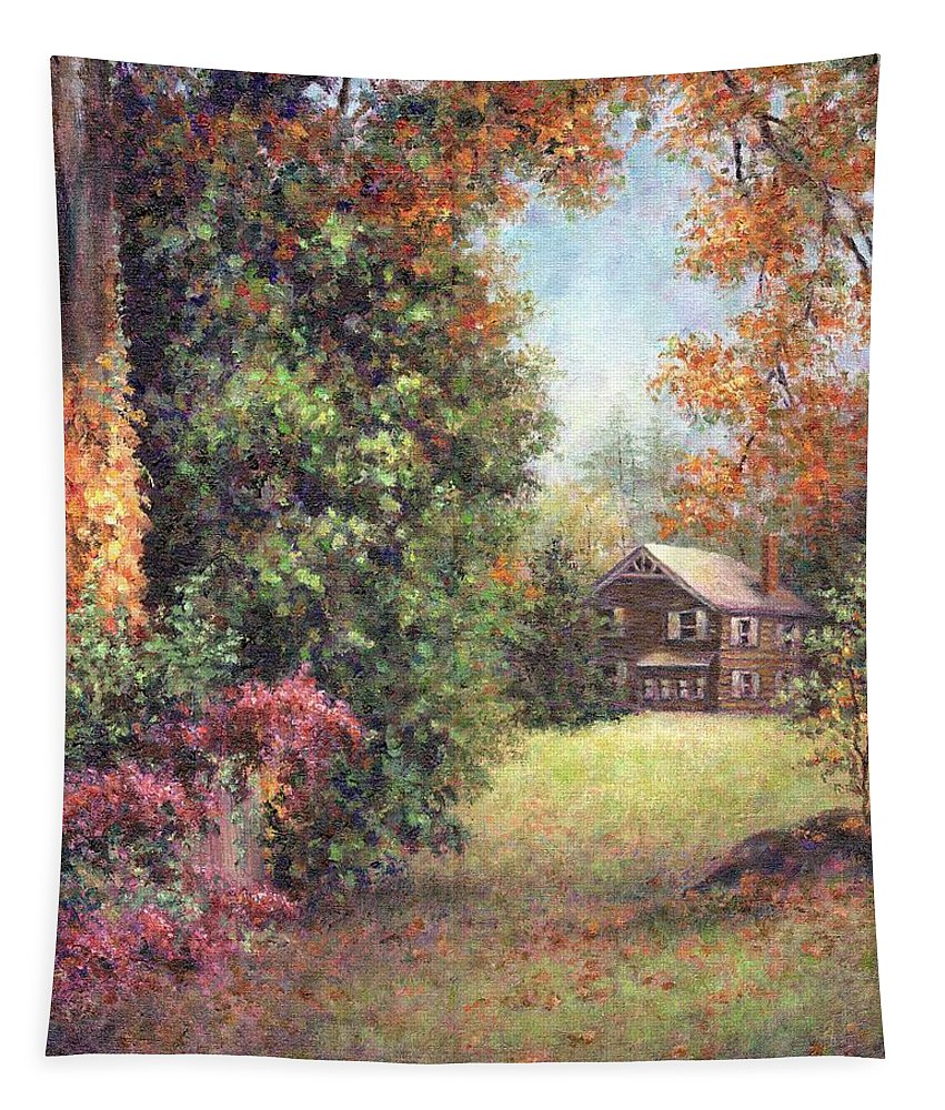 Autumn Tapestry featuring the painting Blazing Ivy by Susan Savad