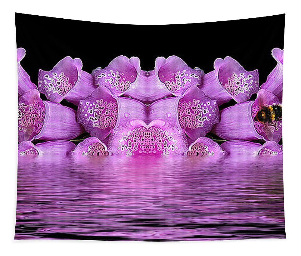 Flowers Tapestry featuring the photograph Bleeding Violet 2 by Ben Yassa