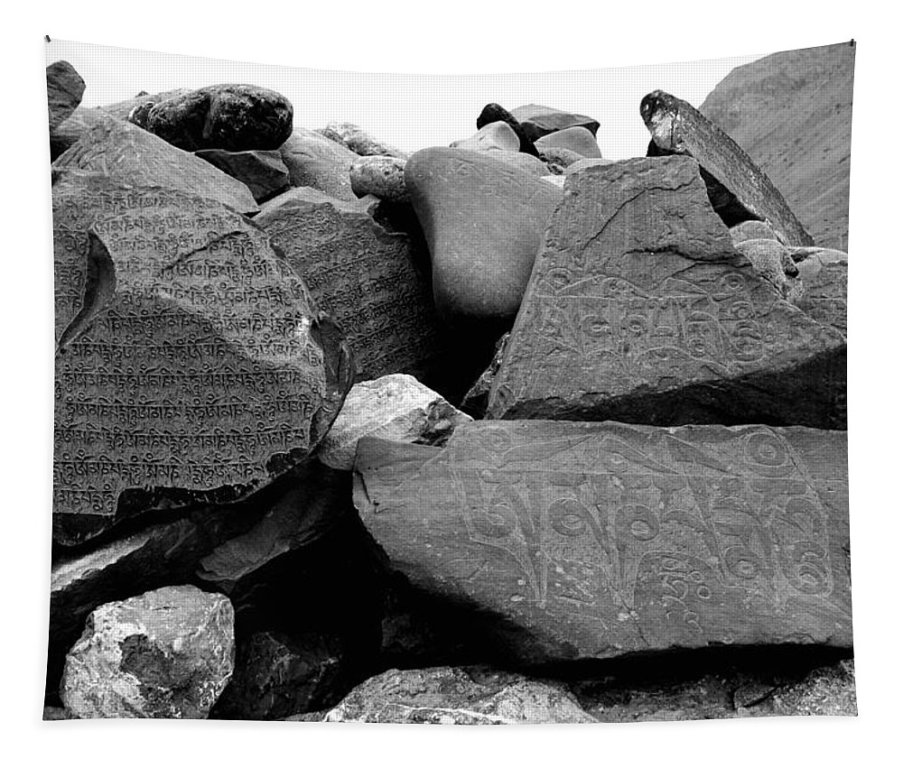 Mantras Tapestry featuring the photograph Blessings On Every Stone by Vikas Thakur