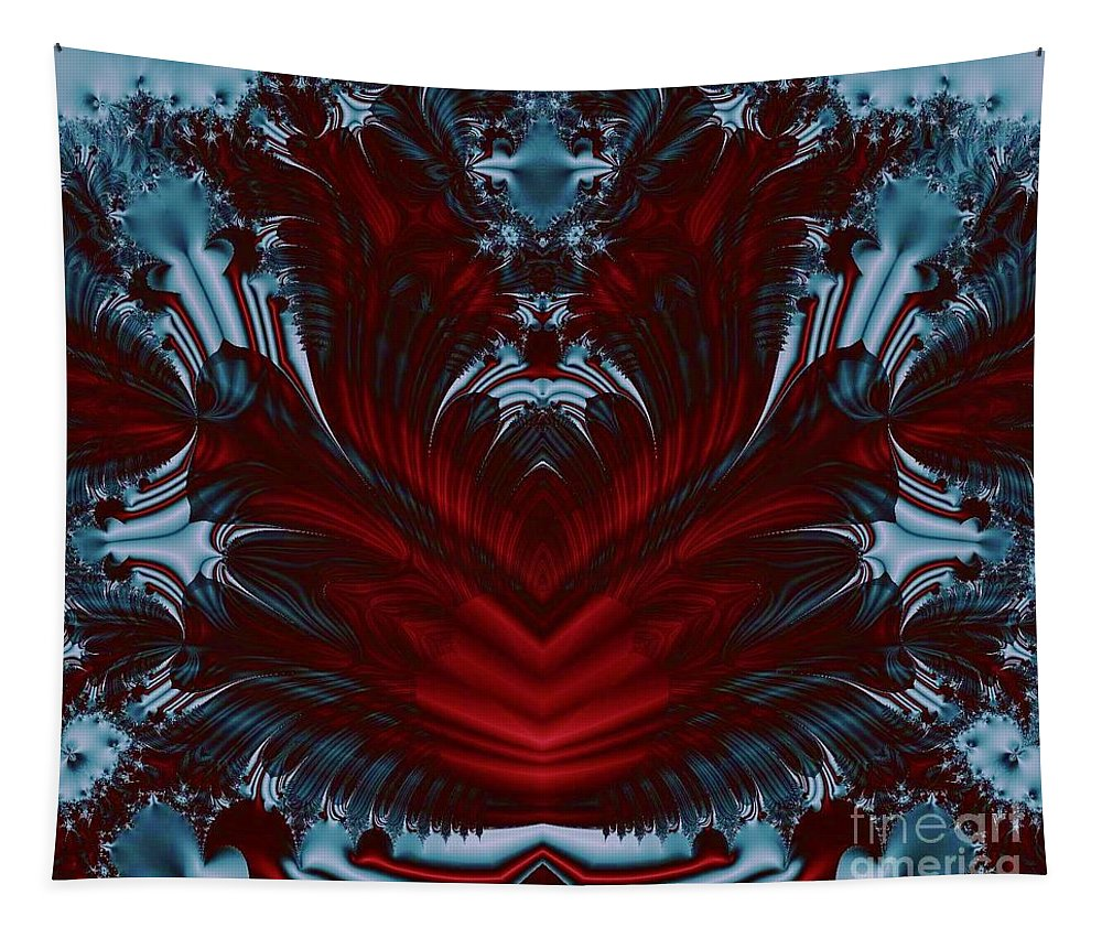 Keri West Tapestry featuring the photograph Bleu Love by Keri West