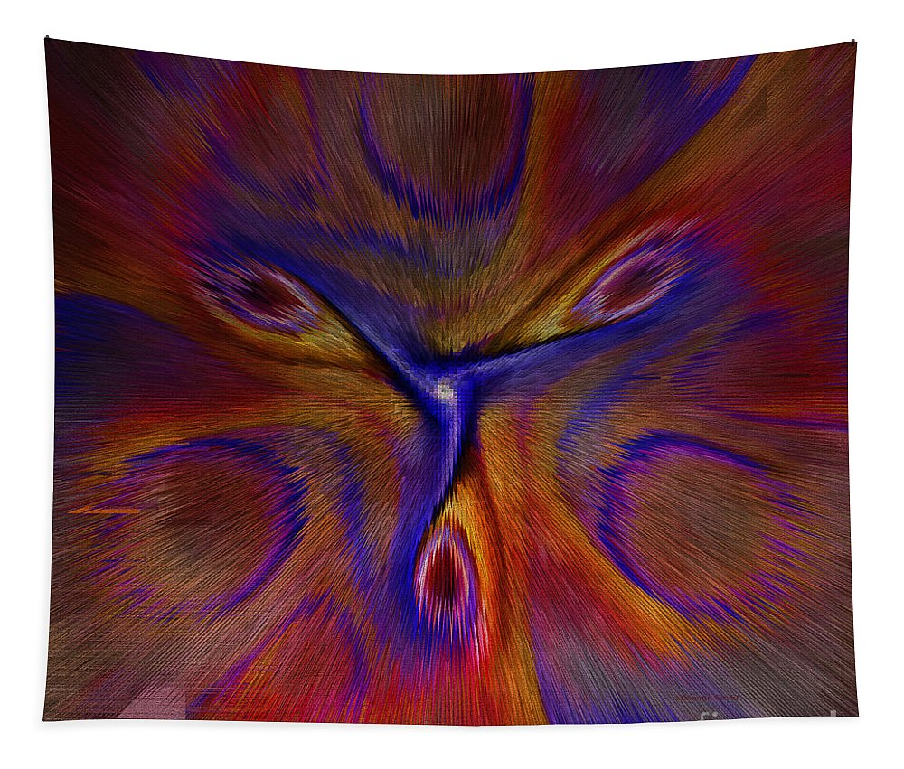Abstract Tapestry featuring the digital art Blow Your Mind by Deborah Benoit