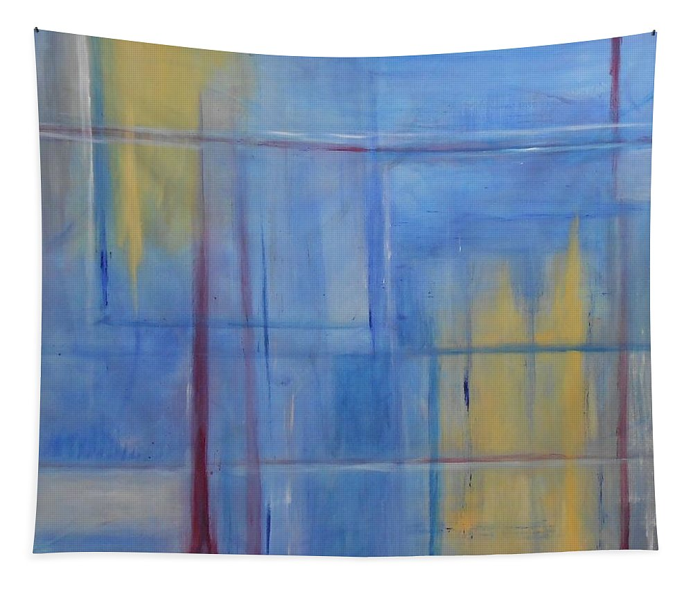 Blue Tapestry featuring the painting Blue Abstract by Jamie Frier