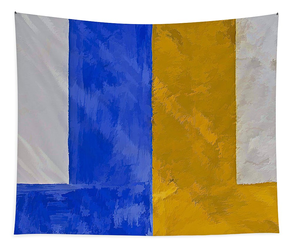 Yellow Tapestry featuring the photograph Blue And Yellow by David Letts