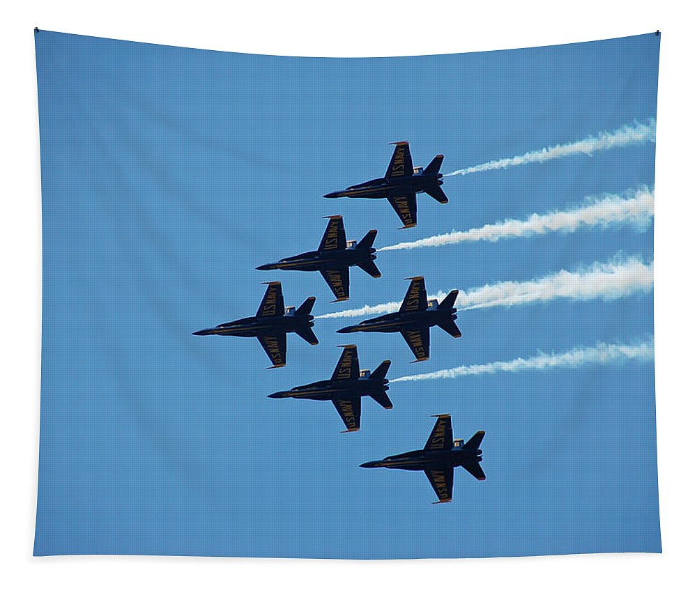 Dare Tapestry featuring the photograph Blue Angels 4 by Aimee L Maher ALM GALLERY