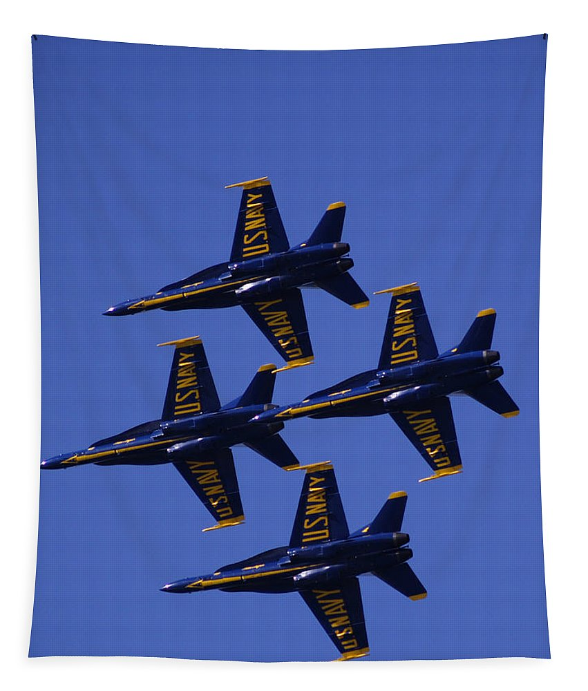 Airshows Tapestry featuring the photograph Blue Angels by Bill Gallagher
