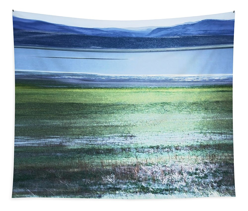 Landscape Tapestry featuring the photograph Blue Green Landscape by Belinda Greb
