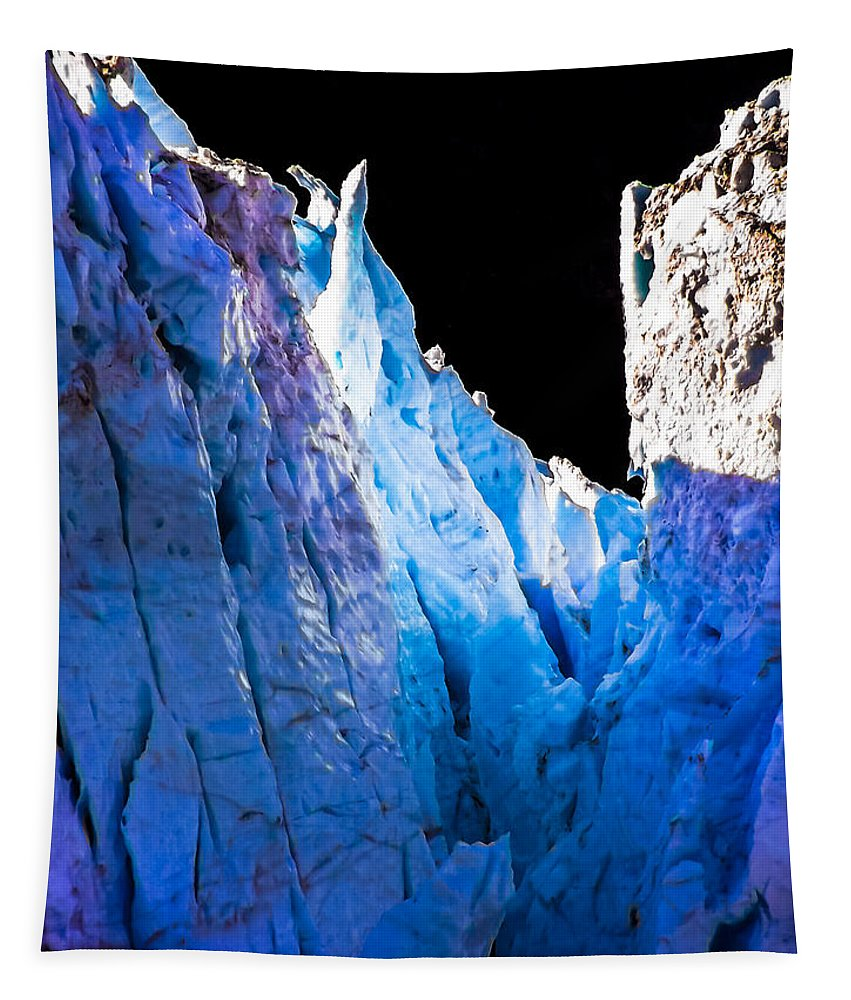 Iceberg Tapestry featuring the photograph Blue Shivers by Karen Wiles