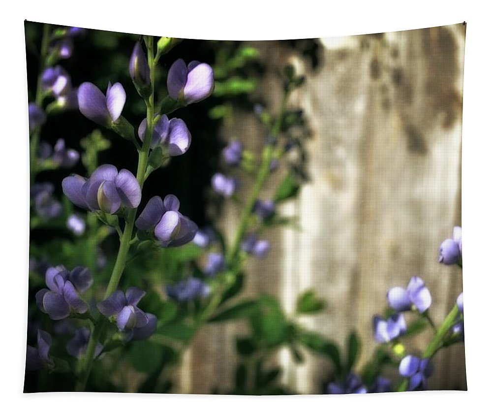 Sturdy Stalk Tapestry featuring the photograph Blue Wild Indigo - Baptisia Australis by Michelle Calkins