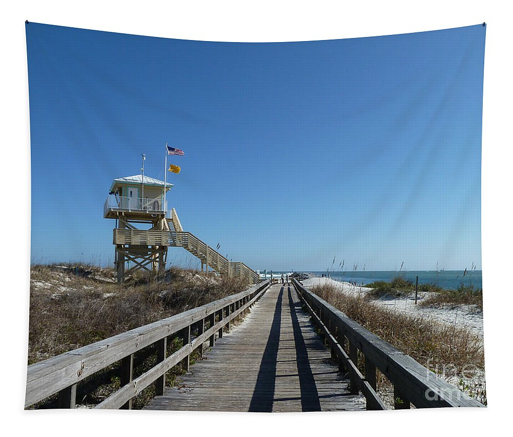 Ocean Tapestry featuring the photograph Boardwalk At Ponce by Deborah Benoit