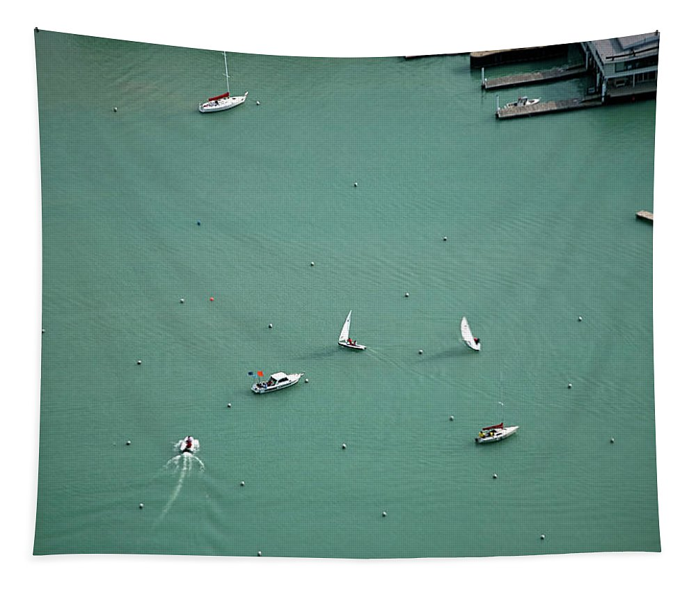 Chicago Tapestry featuring the photograph Boating Chicago Sports 11 by Thomas Woolworth
