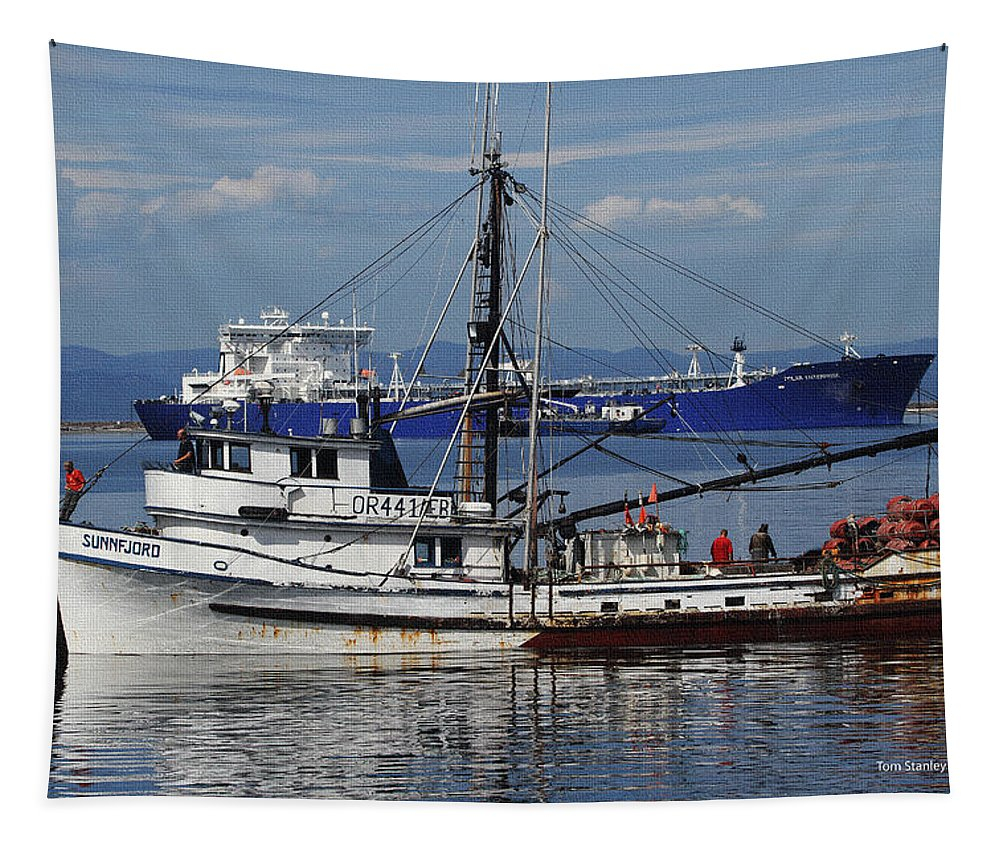 Boats On The North West Tapestry featuring the photograph Boats Of The North West by Tom Janca