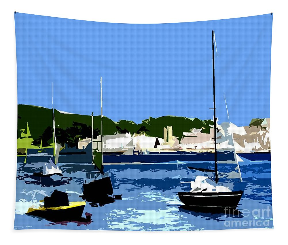 Landscapes Tapestry featuring the photograph Boats On Strangford Lough by Patrick J Murphy