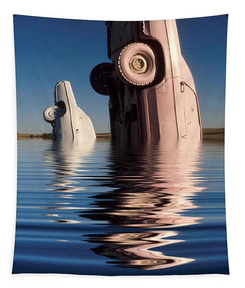 Cadillac Tapestry featuring the photograph Bobbing For Carburetors by Jerry McElroy