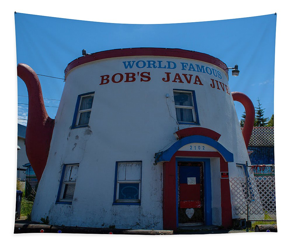 Coffee Tapestry featuring the photograph Bob's Java Jive by Tikvah's Hope