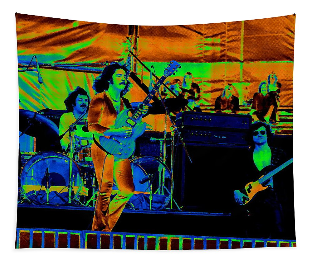 Blue Oyster Cult Tapestry featuring the photograph Boc #1 In Cosmicolors by Ben Upham