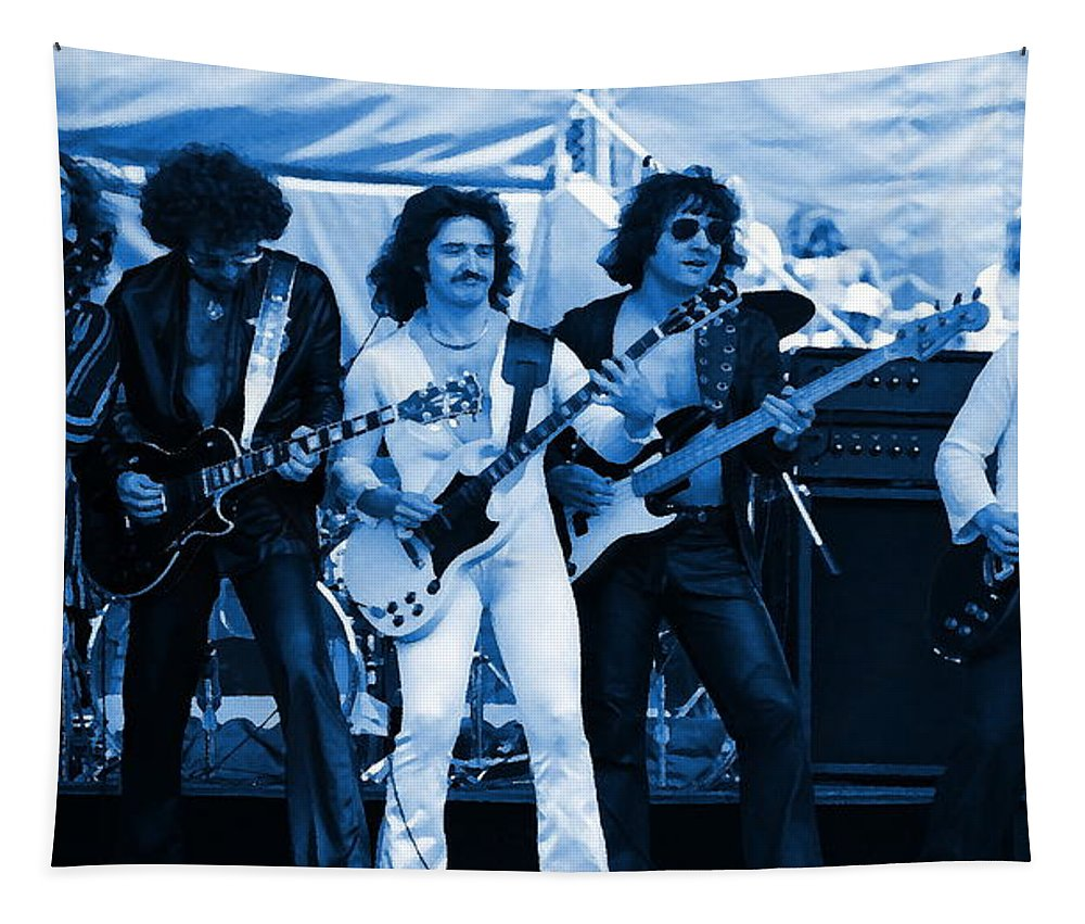 Blue Oyster Cult Tapestry featuring the photograph Boc #3 Artistically Enhanced In Blue by Ben Upham