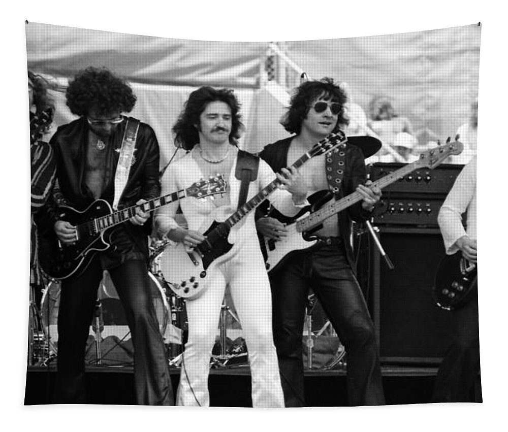 Blue Oyster Cult Tapestry featuring the photograph Boc #3 Crop 2 by Ben Upham