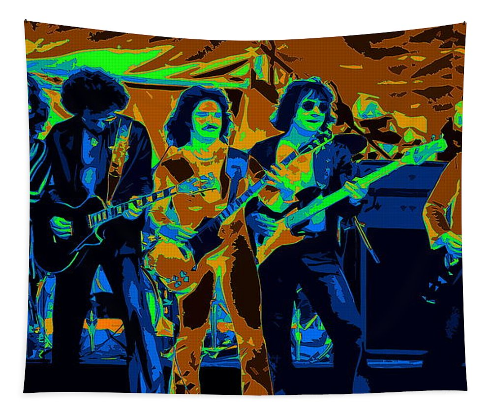 Blue Oyster Cult Tapestry featuring the photograph Boc #3 Enhanced In Cosmicolors Crop 2 by Ben Upham