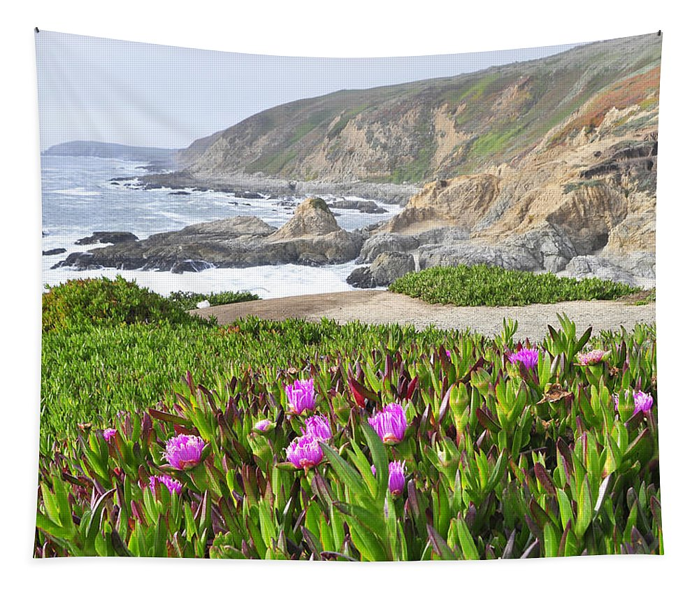 Wendyelliottphotography Tapestry featuring the photograph Bodega Head View by Wendy Elliott