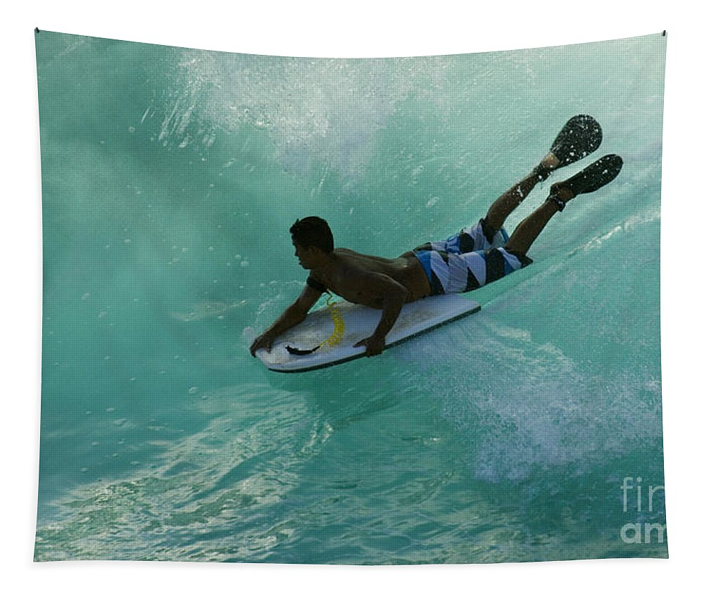 Body Surfer Tapestry featuring the photograph Body Surfer by Bob Christopher