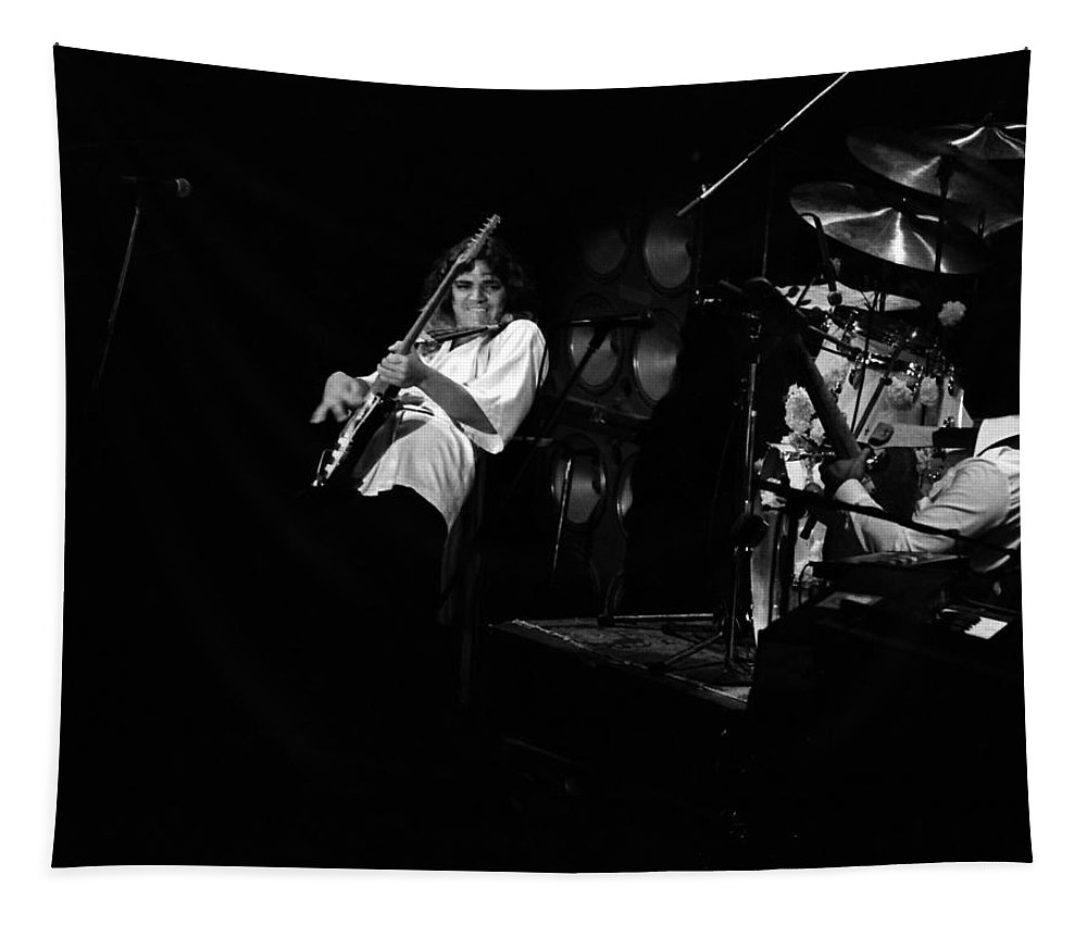 Tommy Bolin Tapestry featuring the photograph Bolin #1 by Ben Upham