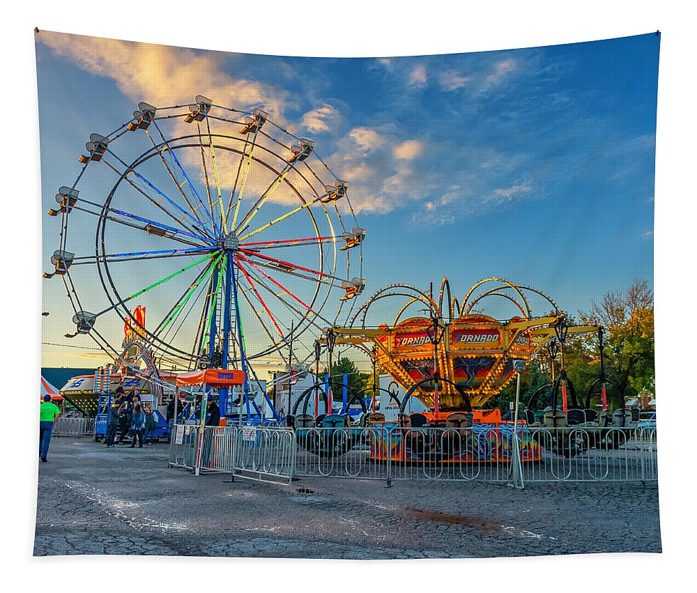 Steve Harrington Tapestry featuring the photograph Bolton Fall Fair 4 by Steve Harrington