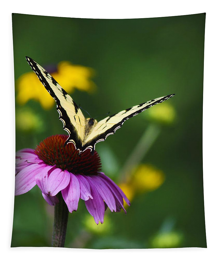 Butterfly Tapestry featuring the photograph Bon Voyage Butterfly by Christina Rollo