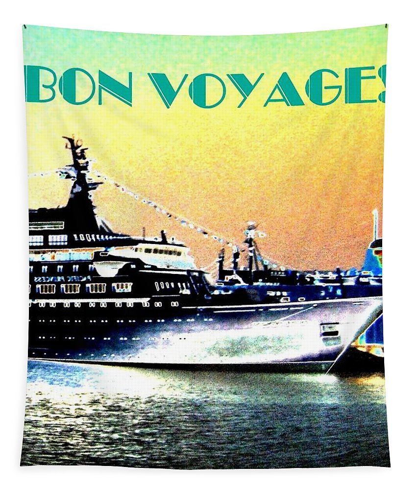 Bon Voyage Tapestry featuring the digital art Bon Voyage by Will Borden