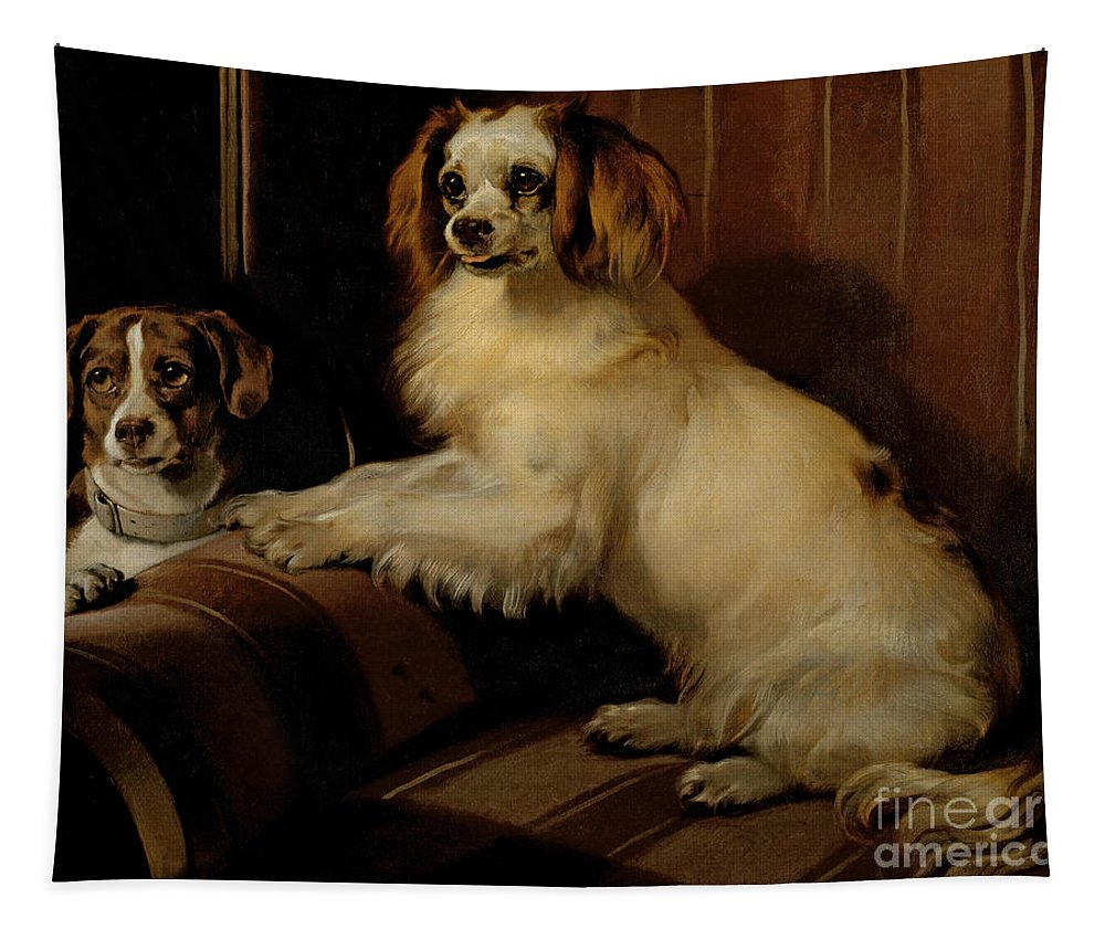 Dog Tapestry featuring the painting Bony And Var by Sir Edwin Landseer
