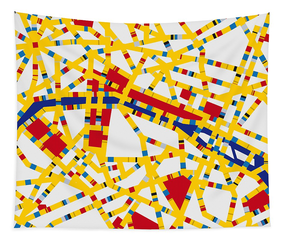 Minimal Tapestry featuring the digital art Boogie Woogie Paris by Chungkong Art