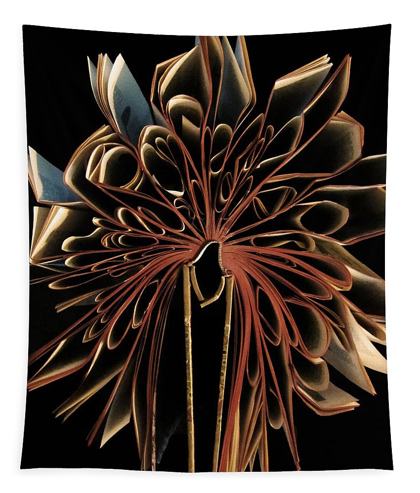 Book Tapestry featuring the photograph Book Flower by Nicklas Gustafsson