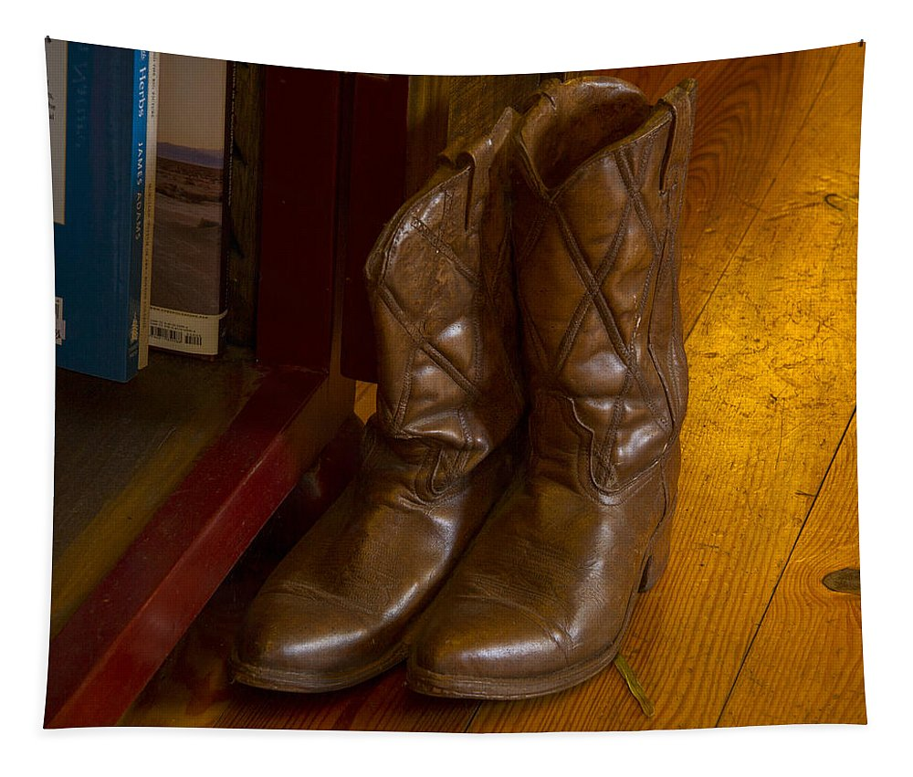 Cowboy Boots Tapestry featuring the photograph Boots Not Made For Walking by Jean Noren